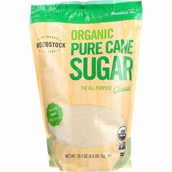 Woodstock Sugar - Organic - Pure Cane - Granulated - 4.4 lb - case of 5 - 95%+ Organic - Vegan