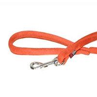 Dogline M8065-4 6 ft. L x 0. 33 W inch Comfort Microfiber Round Leash, Orange