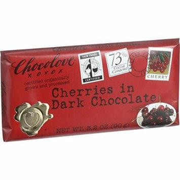 Chocolove Xoxox Premium Chocolate Bar - Organic Dark Chocolate - Fair Trade Cherries - 3.2 oz Bars - Case of 12-95%+ Organic -