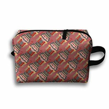 Ballet Nutcracker Cosmetic Makeup Bag Cosmetic Bag Zipper Pouch Straps For Youth