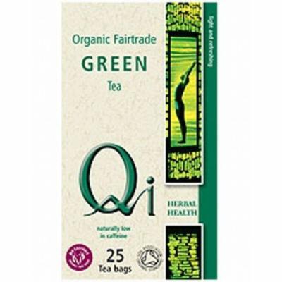 (10 PACK) - Qi - Organic Green Tea   25 Bag   10 PACK BUNDLE