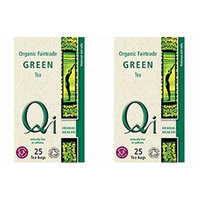 (2 Pack) - Qi - Organic Green Tea | 25 Bag | 2 PACK BUNDLE