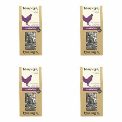 (4 PACK) - Teapigs Everyday (English Breakfast) Tea  15 Bags  4 PACK - SUPER SAVER - SAVE MONEY