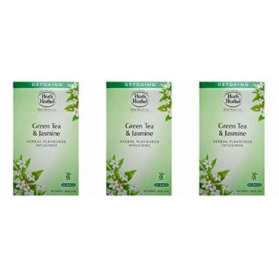 (3 PACK) - Heath And Heather - Green Tea & Jasmine Herbal Tea | 50 Bag | 3 PACK BUNDLE