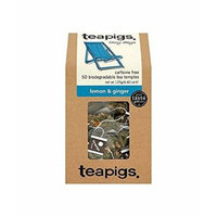 (12 PACK) - Teapigs Lemon & Ginger Tea Temples| 50 Bags |12 PACK - SUPER SAVER - SAVE MONEY