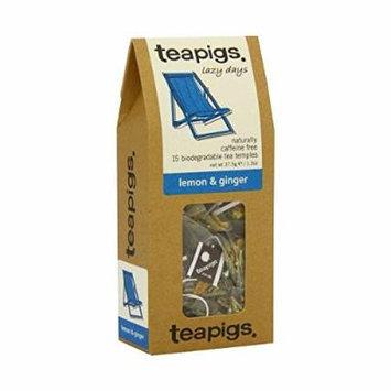 (10 PACK) - Teapigs Lemon & Ginger Tea  15 Bags  10 PACK - SUPER SAVER - SAVE MONEY