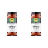 (2 Pack) - Meridian - Org Tomato & Basil Pasta Sauce | 350g | 2 PACK BUNDLE