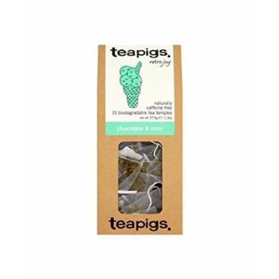 (12 PACK) - Teapigs Chocolate Mint Tea Temples| 15 Bags |12 PACK - SUPER SAVER - SAVE MONEY