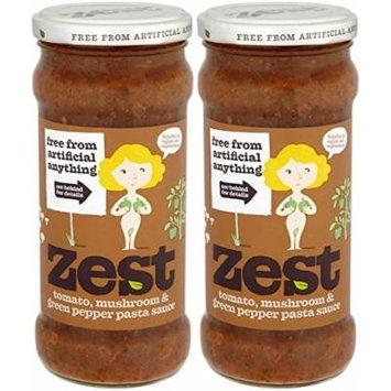 (2 Pack) - Zest - Tom Mush G Pepper Pasta Sauce | 340g | 2 PACK BUNDLE