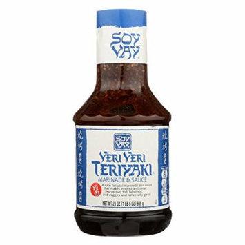 Soy Vay Veri Teriyaki Marinade and Sauce - Case of 6 - 21 Fl oz.