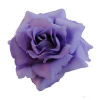 Silk Rose Flower Hair Clip Bridal Wedding 3.75 Inches.