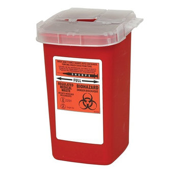 Global Sharps Container Biohazard Needle Disposal Container - 1 Quart (3)