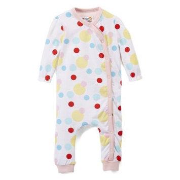 Rockin Baby Llc Coyote & Co. Newborn Baby Girl Polka Dot Footless Sleep 'N Play