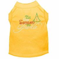 Tis The Season To Sparkle Rhinestone Dog Shirt Yellow Xxl (18)