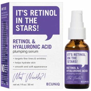 BeUniq Retinol & Hyaluronic Acid Plumping Face Serum 1oz / 30ml