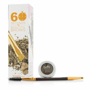 60 Seconds To Beautiful Brows Kit (1x Brow Powder, 1x Dual Ended Brow Brush) - Taupe-2pcs