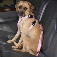 Pink Car Harnesses for Dogs Travel Safely Dog Nylon Strap Safety Harness
