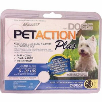 PetAction Plus - Small Dog Club Pack 3x2 Flea & Tick Spot-on treatment