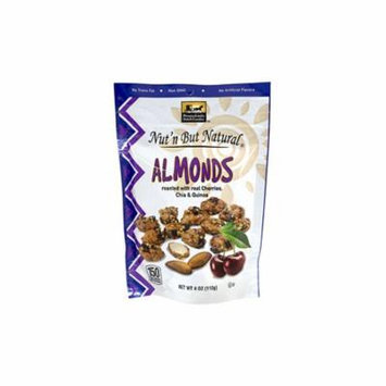 Nut'n But Natural Almonds with Cherries, Chia & Quinoa, 4 oz, 4 Pack