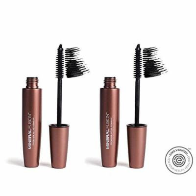 Mineral Fusion Graphite Natural Lengthening Mascara (Pack of 2) with Beeswax, Cotton Seed Oil, and Wheat Protein
