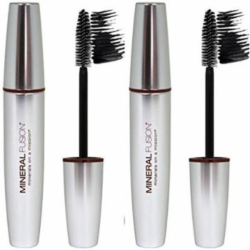 Mineral Fusion Jet Volumizing Mascara (Pack of 2) With Beeswax, Pomegranate, Aloe Vera and White Tea