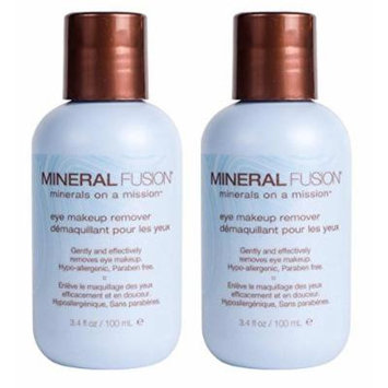 Mineral Fusion Natural Eye Makeup Remover (Pack of 2) with Calendula Extract, Marine Clay, and Cucumber Extract, 3.4 fl. oz.