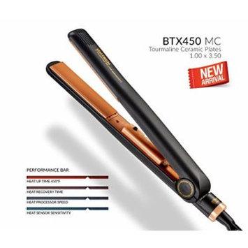 IZUTECH BTX450 Premium Tourmaline Ceramic Ionic Flat Iron Hair Straightener - Dual Voltage in 4 Stylish colors - FREE GIFT INCLUDED (Safari Black)