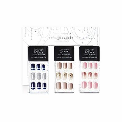 Dashing Diva Limited Edition No.3 Magic Press Edge Full Cover Gel Nail Tips, Disposable Pack of 3