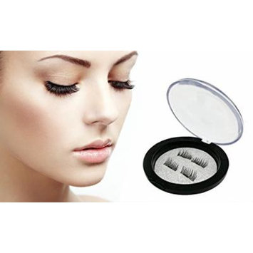 Dual Magnetic False Eyelashes - Ultra Thin 3D Lashes Extension, Natural Reusable Lashes (4 pack)