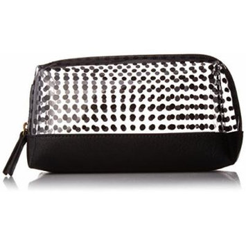 Fossil Bailey Small Cosmetic Case White W/Black, White/Black