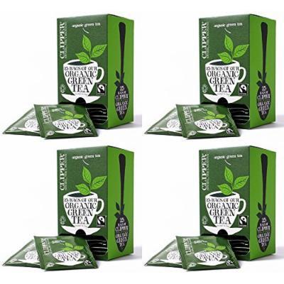 (4 PACK) - Clipper - Ft Org Green Envelopes | 25 Bag | 4 PACK BUNDLE