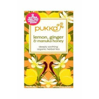 (12 PACK) - Pukka Lemon Ginger & Manuka Honey| 20 Bags |12 PACK - SUPER SAVER - SAVE MONEY