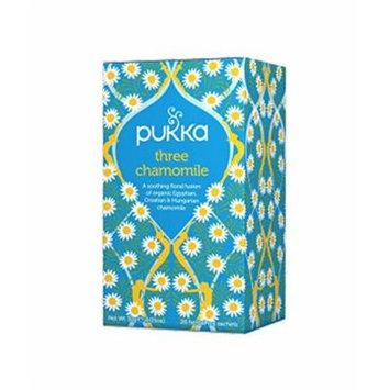 (4 PACK) - Pukka Three Chamomile Tea| 20 Bags |4 PACK - SUPER SAVER - SAVE MONEY