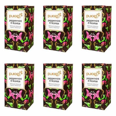 (6 PACK) - Pukka Peppermint & Licorice Tea| 20 Bags |6 PACK - SUPER SAVER - SAVE MONEY