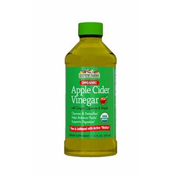 Country Farms Organic Apple Cider Vinegar, 16oz Each (Pack of 2)