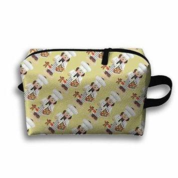 Ballet Nutcracker Make-up Travel Bag Cosmetic Bag Portable Makeup Pouch Waterproof For Girls