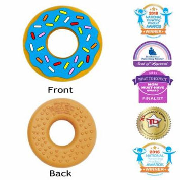Silli Chews Sprinkle Donut (Doughnut) Baby Food Silicone Teether Infant Blue Teething Toy   Best Infant Teether   Cute Holiday Christmas Stocking Stuffer Idea