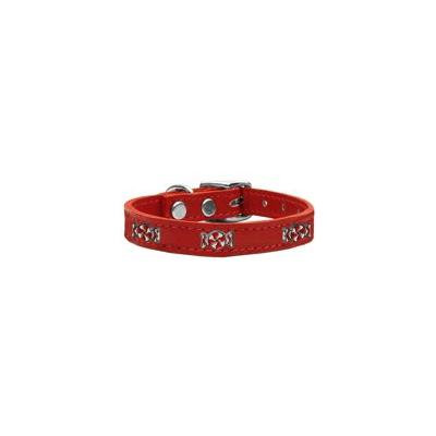 Peppermint Widget Genuine Leather Dog Collar Red 22