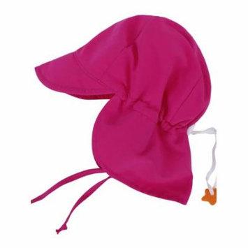 Kids Toddler Baby Solid Color Sun Hat Flap Swim Hat Rose Pink