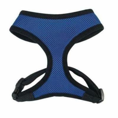 Anti Pull Breathable Mesh NO CHOKE Dog Harness Selections - 10 Colors & 5 Sizes(Medium Blue Harness)