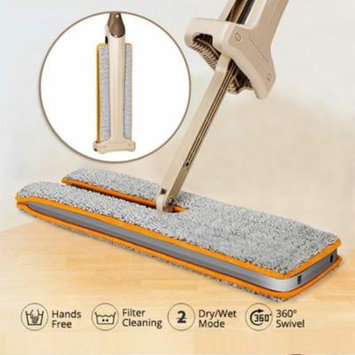 Girl12Queen 360 Degrees Lazy Double-Sided Flat Mop Hands-Free Washable Floor Cleaning Tool