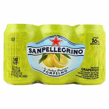 San Pellegrino Sparkling Water - Pompelmo Grapefruit - Case of 4 - 11.1 Fl oz.