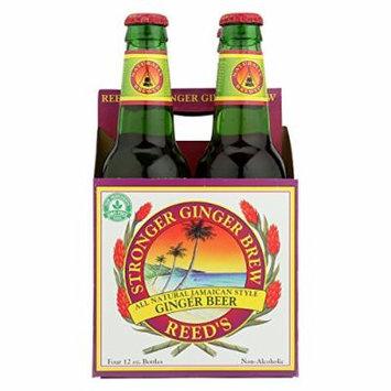 Reed's Ginger Beer Ginger Brew - Stronger - Case of 6 - 12 Fl oz.