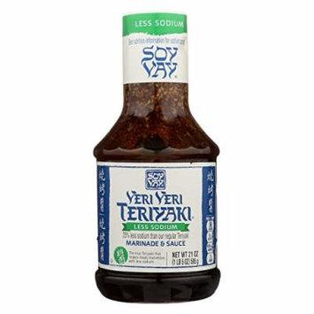 Soy Vay Veri Teriyaki Marinade and Sauce - Case of 6 - 21 oz.