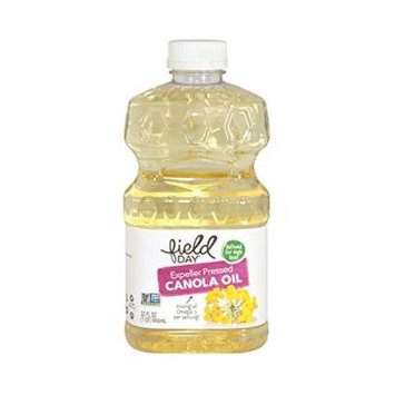 Field Day Expeller Pressed Canola Oil - Canola Oil - Case of 12 - 32 FL oz.