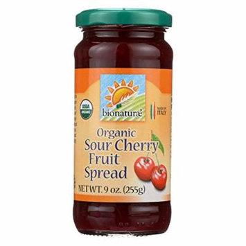 Bionaturae Fruit Spread - Sour Cherry - Case of 12 - 9 oz.
