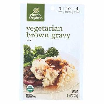 Simply Organic Vegetarian Brown Gravy Seasoning Mix - Case of 12 - 1 oz.
