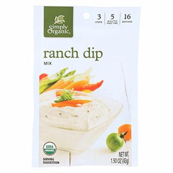 Simply Organic Ranch Dip Mix - Case of 12 - 1.5 oz.