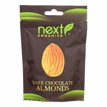 Next Organics Organic Dark Chocolate - Almonds - Case of 6 - 4 oz.