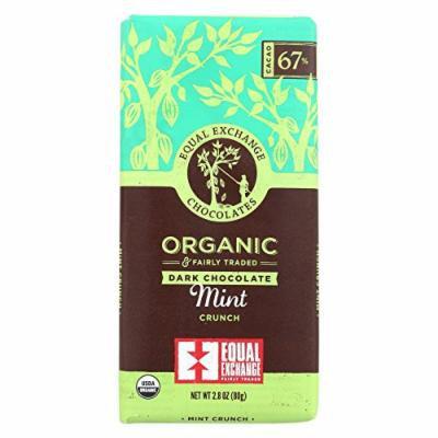 Equal Exchange Organic Dark Chocolate Bar - Mint Crunch - Case of 12 - 2.8 oz.